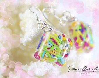 Arrose les boucles d'oreilles anniversaire bijoux Boucles d'oreilles anniversaire cadeau coloré fête cadeau de bijoux pour meilleur ami parti jolie boucles d'oreilles en résine
