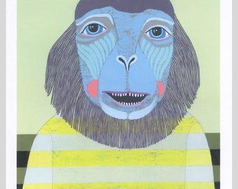 Monkey - Small Art Print