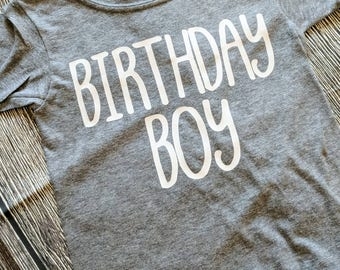 Birthday boy shirt, boys birthday shirt, first birthday shirt, second birthday shirt, third birthday shirt, first birthday boy outfit