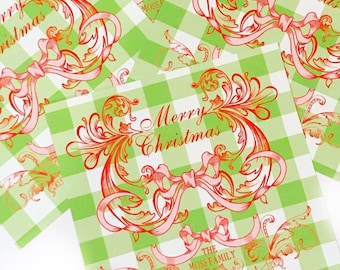 Christmas Vintage Bow Gift Tags
