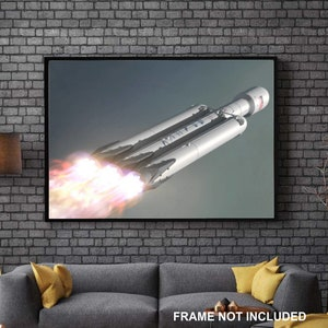 Tesla, Elon Musk, SpaceX, Starman, Falcon Heavy, Falcon Flight, Starman Tesla, Home Decor, Wall Art