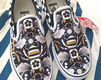Limited Edition Deco Bee Custom Vans (Men's)