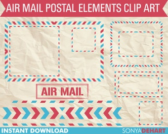 80% OFF SALE Mail Clipart, Postal Clipart, Digital Mail Clipart, Digital Frames, Frame Clipart, Post Office Clipart, Mail Graphics