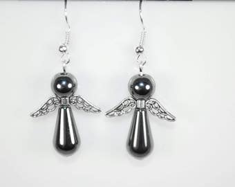 hematite earrings haute