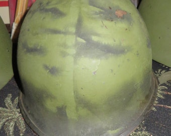 Original period  steal pot helmet WW2 Korea nam