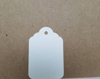 White merchandise tags