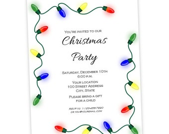blank christmas party flyer