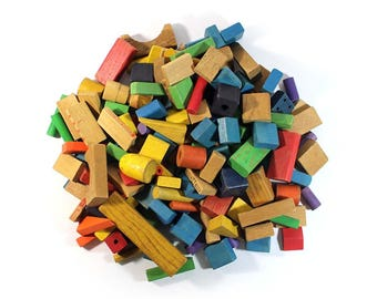 150 Colorful Wooden Blocks