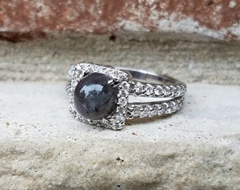 Natural Alexandrite Ring 2.87 carats with Diamonds,  NOT a synthetic;  GIA Report Included