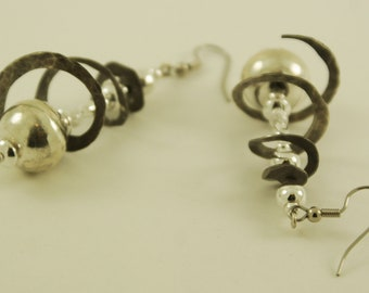 Sterling Silver Balls and Swirls Earring