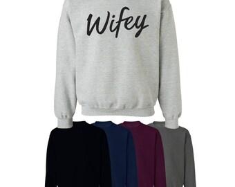 Wifey Sweater Jumper Style Girlfriend Fun Mens Womens Gift UK Ships Worldwide