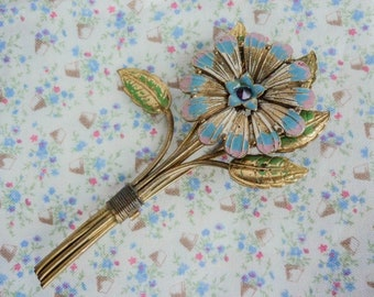Large 1930s Bouquet brooch