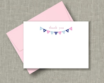 Pink Baby Shower/ Thank You Cards/ Boy Baby Shower /Thank You Cards /Baby Nautical Note Cards