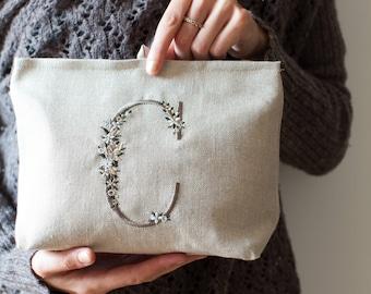 Beauty case personalizzato con ricamo - monogram pouch