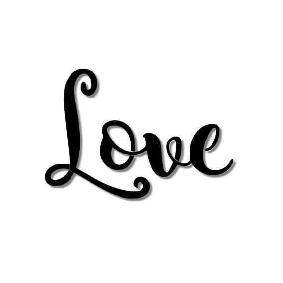 Plantilla de escritura cursiva de amor