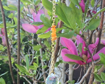 Amber & Crystal Sun Catcher