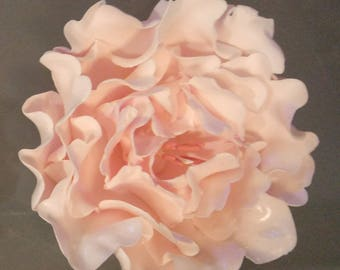 "1 Edible Ex Lg 5"" Gum paste open PEONY  /  any color / Cake decoration / Fondant / sugar flower / wedding cake decoration / cake topper"