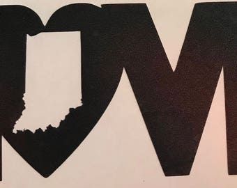 Love Indiana Decal/Indiana State Love Decal/Yetti cup/Drinkware/Indiana