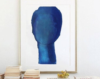 Blue Fine Art Print, Modern Blue Painting Print of Original Abstract Artwork