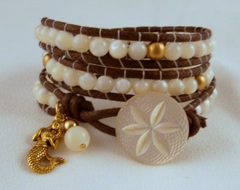 Mermaid's Delight wrap bracelet