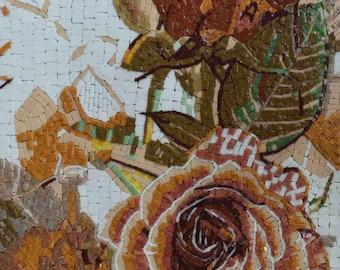 Flower Decor Mosaic Glass
