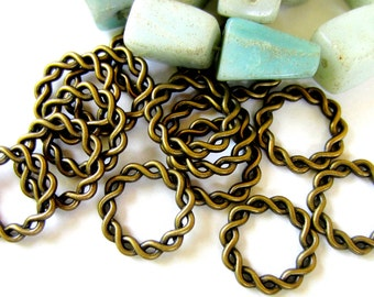 18 Antique bronze connector links jewelry making metal findings 20.5mm  991-(YY3)