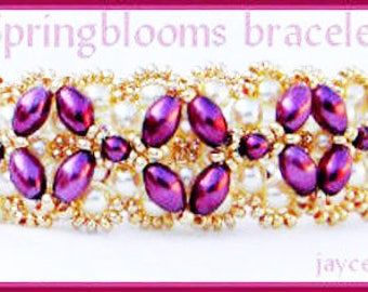Beading Tutorial - Springblooms bracelet - Embellished RAW