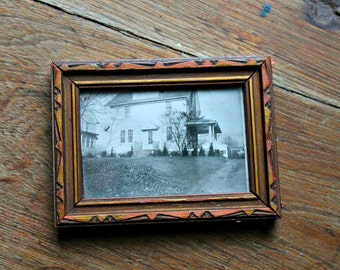 Vintage House Photograph-Framed under Glass