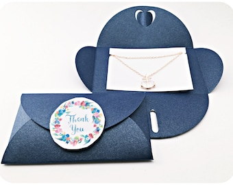 Chain anchor ROSÉGOLD, BLUE packaging, Thank You, Anchor necklace gold
