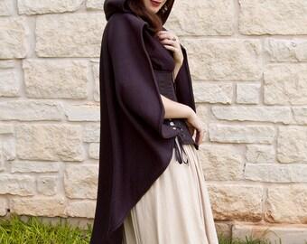 Black Rogue Cape - Renaissance Clothing - Halloween Costume - Ren Faire Garb - Medieval Clothing - Mens Womens Cloak - Hooded Cape
