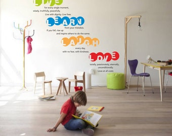 Live, Laugh, Learn, Love vinyl wall decal