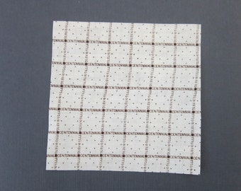 Centennial Commermorative Print Fabric Swatch 1876