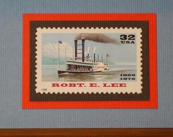Robert E. Lee Riverboat Vintage Framed Stamp - No. 3091