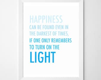 Harry Potter . Happiness Can Be Found digital download . Dumbledore . light