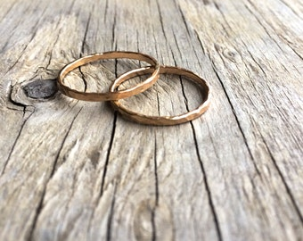 Hammered gold stacking ring. Hammered 14k gold fill rings. Hammered stacking finger rings. Little gold stacking rings for any finger..