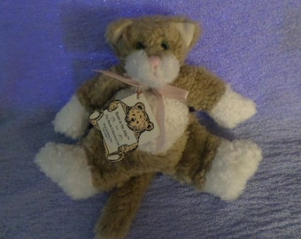 "Vintage Boyds Cat plush Floppy green eyes Bears in the attic 7"" NWWT"