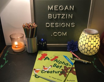 Alpha-Bet Creatures Coloring Book