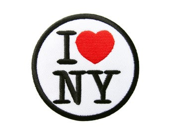 I Love NY New York Red Heart Applique Embroidered Iron on Patch