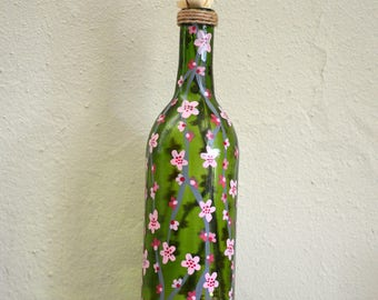 Pink Cherry Blossom - Spring Collection Bottle Art