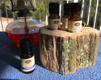 "Essential Oil Holder Display Stand .... ""Truly From The Woods"" .... (3 Bottles)"