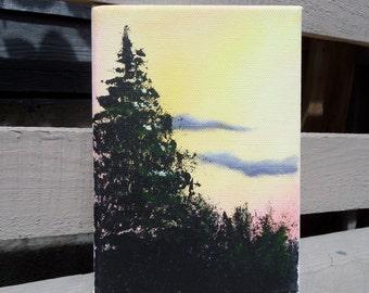 Sunset Landscape Painting