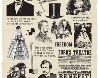 Abraham Lincoln Rubber Stamp Collection