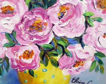 Original Painting canvas art 11 x 14 Fine art by Elaine Cory