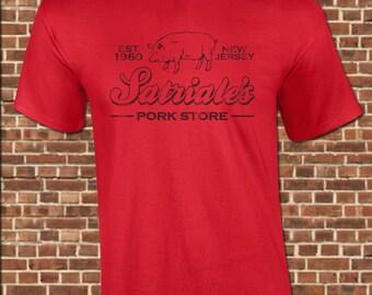 SATRIALE'S mens T-Shirt all sizes available funny pork store tony soprano jersey sopranos mafia mob italian little italy vintage tee UG639