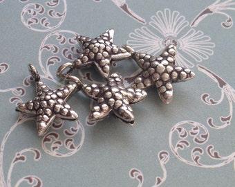 Silver Starfish Charm, Hill Tribe silver, silver starfish charm, karen hill tribe silver
