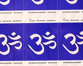 Photo sticker OM Blue Blue yoga letters 10 pieces à 4 x 6 cm