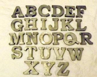 Zinc Metal Letters A - Z Plus Ampersand &