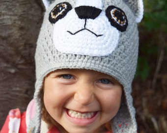 Handmade Crochet Cat hat, Cat Hat, Boys hat, Girls hat, Kids hat, Character Hat, Animal hat