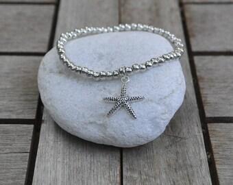 Bracelet star of sea and balls zamak