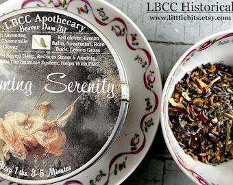 Calming Serenity Tea Reduces Stress, Strengthens Immune System, Helps with PMS, Organic Stress Tea, Sleepy Time Tea, Flower Tea, Organic Tea